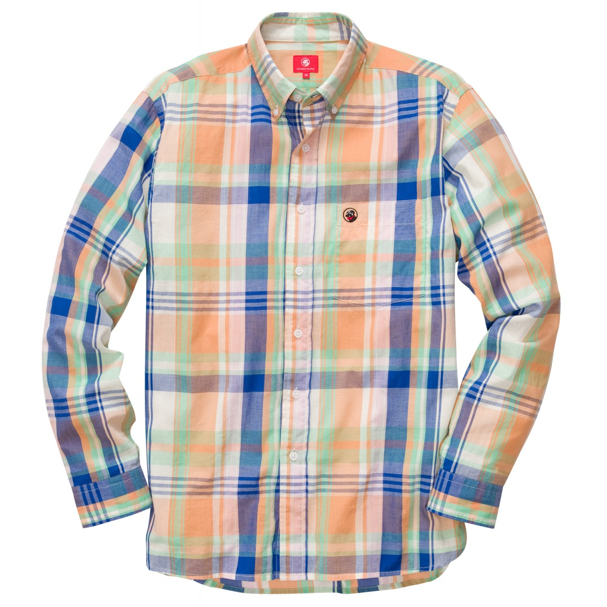 Southern Shirt: Washed Navy / Orange